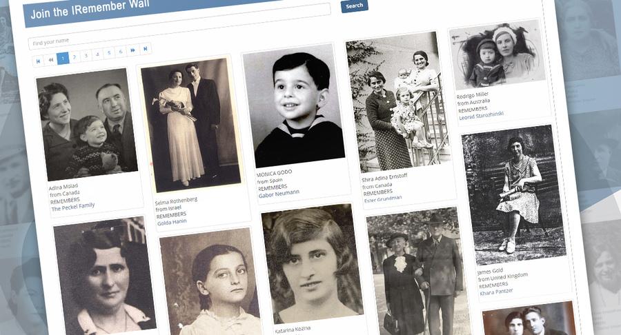 """Facebook и Яд-Вашем создали """"Стену памяти"""" жертв Холокоста"""