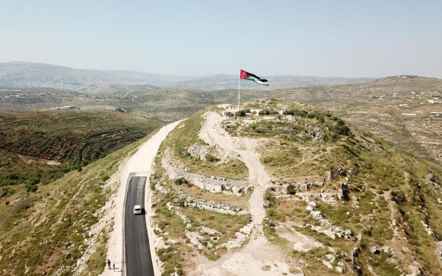 Палестинский флаг в Самарии