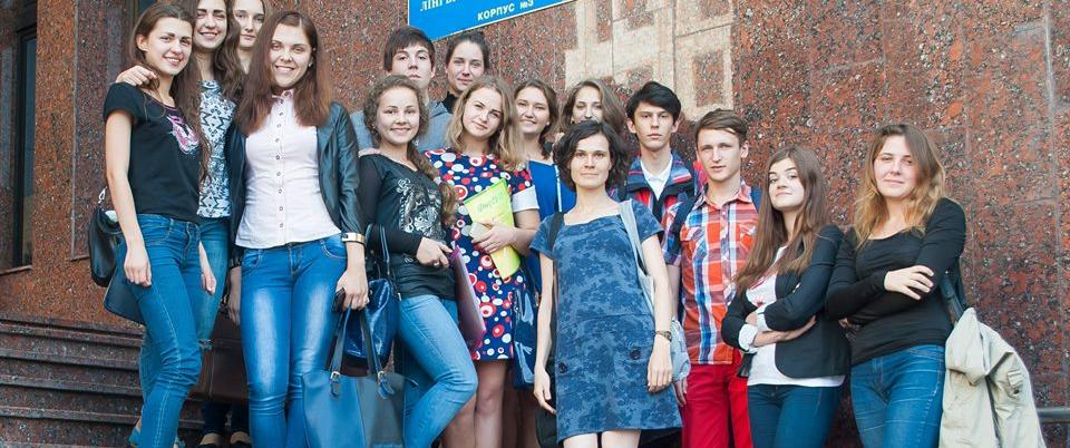 Photo: Darya Semyonova (in the center) with her students