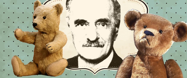Моррис Мичтом и его медведь Тедди