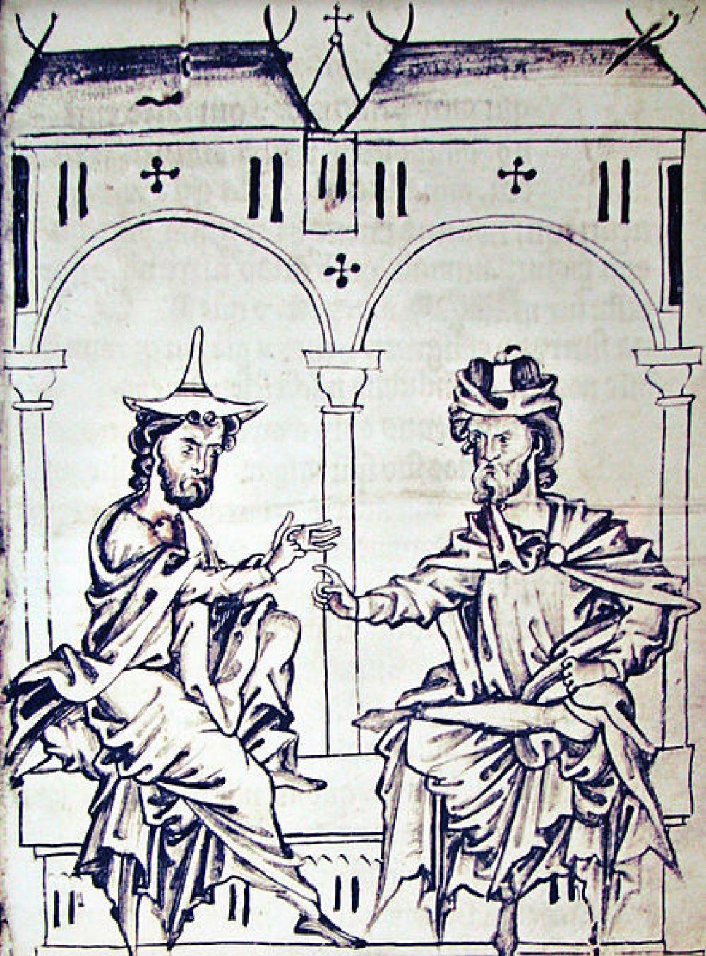 Средневековье, спор между иудеем и христианином