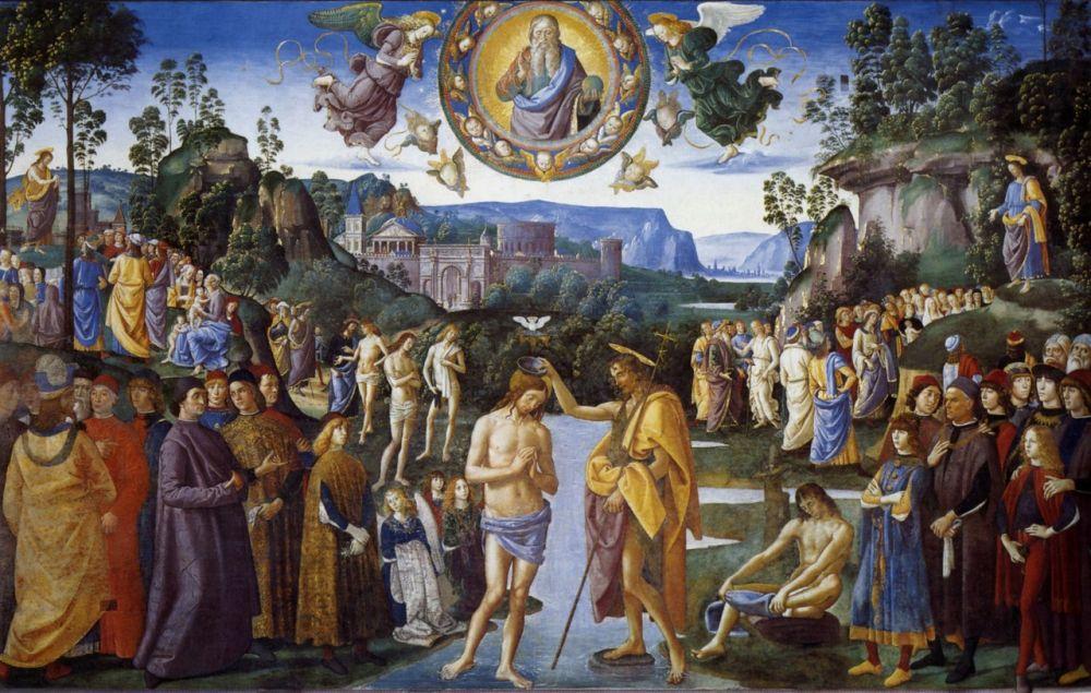 «Крещение Христа» Пьетро Перуджино (1482)