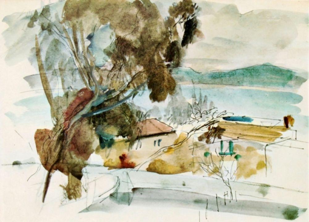 Анна Тихо, акварельный пейзаж