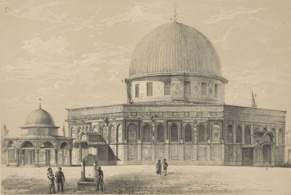 Фото Купола Скалы, сделанное в 1864 году итальянским инженером Эрметом Пьеротти