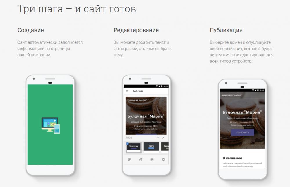 Google запустил бесплатный конструктор сайтов для малого бизнеса